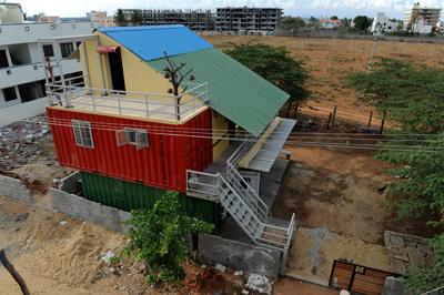 Out of the boxshipping container homes in India